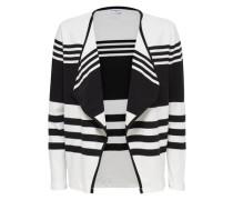Strickjacke gestreift schwarz / weiß