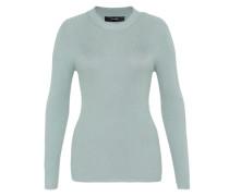 Rippstrick-Pullover mit Lurex blau