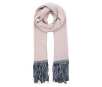 Schal mit Fransen rosa