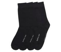 Einfarbige Socken schwarz