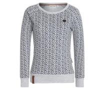 Sweatshirt 'Pappen Ronny II' hellgrau / schwarz