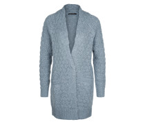 Langstrickjacke 'Moon' blau
