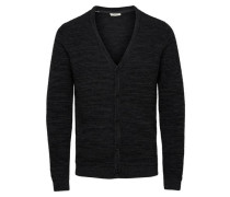 Strick-Cardigan Regular-Fit schwarz