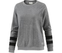 Sweatshirt 'Mia' grau / schwarz