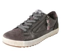 Sneaker mit Fell-Besatz grau