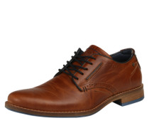 Derby mit Cut-Outs cognac