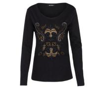 Jerseyshirt 'Ziggy Embroidery' schwarz