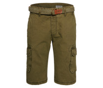 Shorts 'cargo Belt' oliv