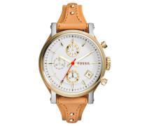 Chronograph braun / gold