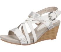 'Canai' Sandaletten creme / grau / silber
