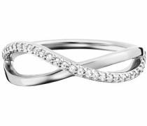 Fingerring 'Infinity' silber