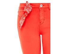 Cropped Skinny-Jeans mit Paisley-Bandana