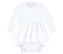 Kleid-Body mit Sternen-Print weiß