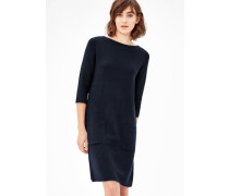 Softes High Neck-Strickkleid nachtblau