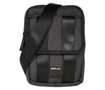Crossbody Bag mit Riemendekor schwarz