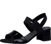 Sandale mit Schnalle schwarz