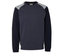 Crew-Neck-Sweatshirt blau