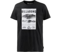 T-Shirt 'lines TEE SS' schwarz