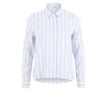 Streifen Hemd hellblau / weiß