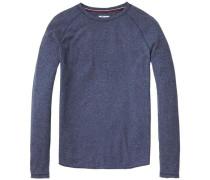 Hilfiger Denim T-Shirt 'thdm RLX TXT CN Knit L/S 24' blaumeliert