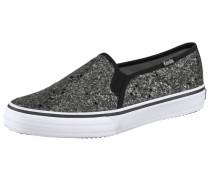Double Decker Glitter Sneaker grau