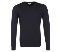 Pullover aus Merinowolle schwarz