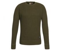 Pullover mit Strick-Struktur 'Mason' grün