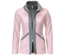 Fleecejacke mit Pailletten grau / rosa
