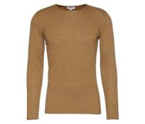 Pullover 'fine melange basic pullover' ocker