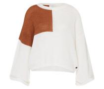 Oversized Pullover 'Lena' braun / weiß
