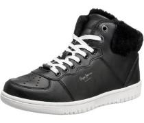 Lindsay Fake Fur Sneakers schwarz