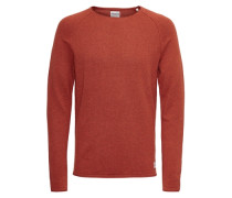 Pullover Waffel-Webung Raglan rot