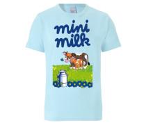 T-Shirt 'mini Milk' blau