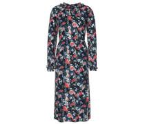 Dress Kleid mit floralem Muster dunkelblau / grün / mischfarben / rot / weiß