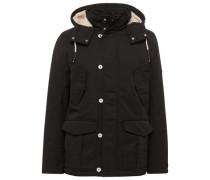 Jacket kurzer Parka mit Kapuze beige / schwarz