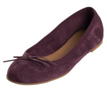 Wildleder-Ballerinas bordeaux