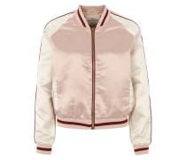 Bomberjacke aus Satin pink / weiß