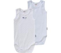 Bodys Doppelpack für Jungen blau / grau / weiß