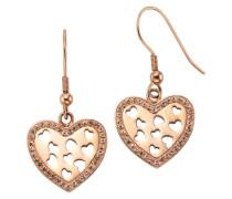 Ohrhaken »Herz« mit Kristallsteinen gold