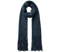 Langer Fransen- Schal blau