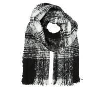 Großer Schal aus Bouclé-Gewebe schwarz