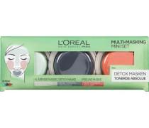 'Tonerde Absolue Multi Masking Set' Gesichtsmaske anthrazit / hellgrün / orange