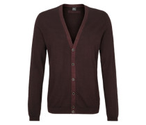 Feinstrick-Jacke aus Merinowolle rot