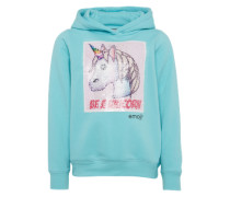 Sweatshirt türkis / mischfarben