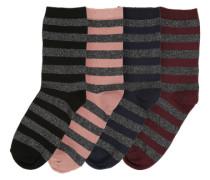 4er-Pack Socken 'Pcrosa' mischfarben