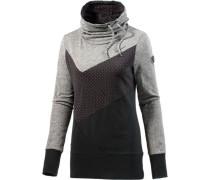 Funktionssweatshirt grau / schwarz