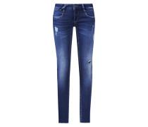 Jeans 'nena - montana sweatie' blue denim