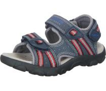 Sandale 'J Sandal Strada' dunkelblau / dunkelgrau / rot