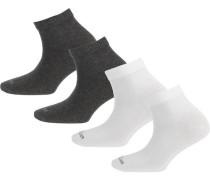4er Pack Socken graumeliert / weiß