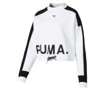 Sweatshirt 'Chase Crew' weiß / schwarz